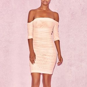 House of CB Mesh off the Shoulder Dress